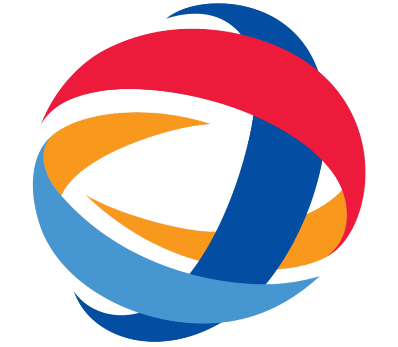similiar orange circle company logos with red and yellow